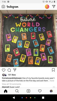 classroom decor Have them write positive personal affirmations on there. I am kind, I am smart, I am a good friend. This would make a great back to school or end of year bulletin board for fifth graders! Preschool Bulletin Boards, Classroom Bulletin Boards, New Classroom, Classroom Setting, Back To School Bulletin Boards, Bulletin Board Ideas For Teachers, Friends Bulletin Board, Year 3 Classroom Ideas, August Bulletin Boards