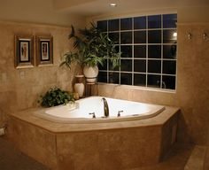 ideas for bathroom renovation pictures - we have a corner tub
