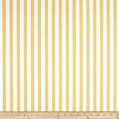 Premier Prints Basic Stripe Saffron Yellow from @fabricdotcom  Screen printed on cotton duck; this versatile fabric is perfect for window accents (draperies, valances, curtains and swags), accent pillows, bed skirts, duvet covers, slipcovers, upholstery and other home decor accents. Create handbags, tote bags, aprons and more.