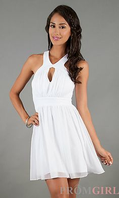 Short Sleeveless Open Back Dress by Bee Darlin at PromGirl.com