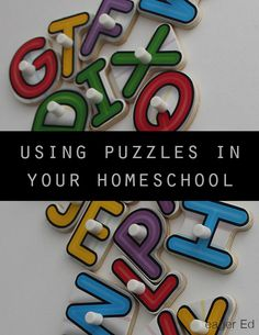 P is for Puzzles | Ideas for using puzzles for learning | eager Ed