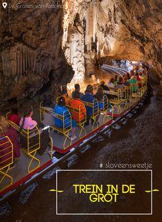 De grotten van Postojna is het enige grottencomplex ter de wereld met een dubbele spoorlijn.#sloveensweetje