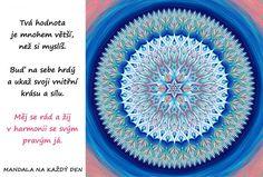 Mandala Ukaž světu svoji vnitřní krásu Symbols, Words, Icons, Horse, Glyphs