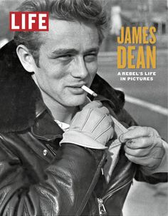 "James Dean photographed by Phil Stern licensed to Life for the cover of ""James Dean, A Rebel's Life in Pictures"" book."