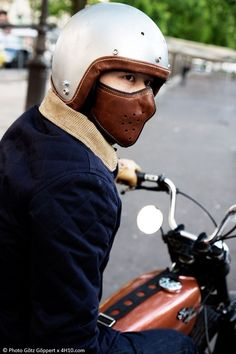 Leather Mask - Pin by Corb Motorcycles