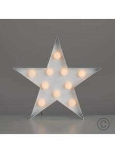 STAR SHAPED WALL HANGING WITH WARM WHITE LEDS LIGHTs
