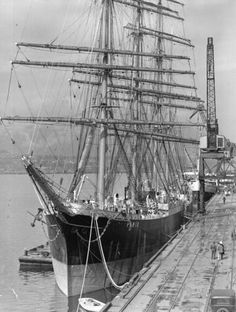 "British sailing ship ""Pamir"" [at dock] - City of Vancouver Archives"