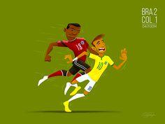 Momentos ilustrados da copa do mundo de 2014 - Designerd