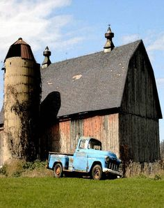 Barn, Silo & Old Blue Chevy Truck .....rh http://www.route3amotorsports.com/index.htm https://www.facebook.com/pages/ROUTE-3A-MOTORS-INC/290210343793?ref=hl OPEN 7 DAYS A WEEK 978-251-4440