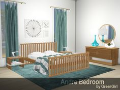 TSR : The Andre Bedroom, a contemporary suite of bedroom furniture that has 10 new pieces by GreenGirl100.