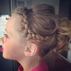 Fancy hair for dance pictures Updo