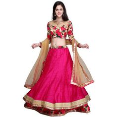 Women s Clothing - Beautiful Party Wear Embroidered Bhagalpuri Light Pink & Sky Blue Lehenga Choli - ( ) - Light pink and sky blue color bhagalpuri fabric lengha choli & silk fabric blouse & net with work fabric Raw Silk Lehenga, Floral Lehenga, Pink Lehenga, Net Lehenga, Bridal Lehenga, Wedding Lehnga, Anarkali Gown, Silk Dupatta, Wedding Attire