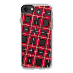 Punk rock plaid - tartan fashionista pattern - iPhone 7 Case And Cover ($40) ❤ liked on Polyvore featuring accessories, tech accessories, phones, iphone case, clear iphone case, iphone cases, apple iphone case, print iphone case and iphone cover case