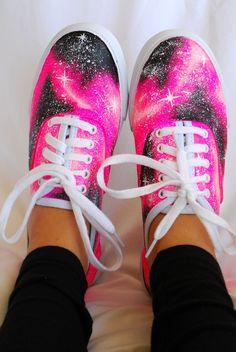 Custom Galaxy Cosmic Vans Sneakers By Ebeth Hajj