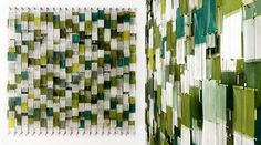 Field of Green Blocks, Jacob Hashimoto