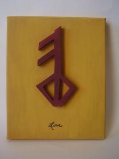 matching tattoos of the Viking Rune Symbol of LOVE...