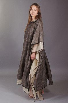 Image of Black Ikat Caftan Dress