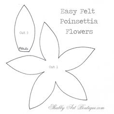 Simply Christmas–easy felt Poinsettias - Shabby Art Boutique