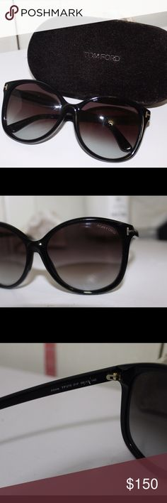 Tom Ford Women's Black Sunglasses with case!! So classy! Gently used, no scratches on lenses or on outside of frames, comes with original case! Tom Ford Accessories Sunglasses