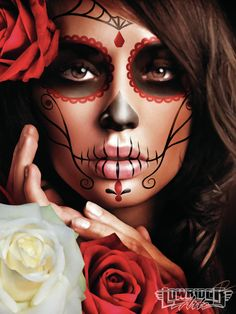 Daniel Esparza Face Paint ~ Day of the Dead