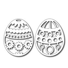 Frantic Stamper - Precision Dies - Easter Eggs (springtime & dots)-each egg is wide x tall with a beautiful filigree pattern --- note Scroll Saw Patterns Free, Laser Art, Frantic Stamper, Easter Printables, Easter Holidays, Wood Ornaments, Egg Decorating, Paper Cards, Easter Crafts