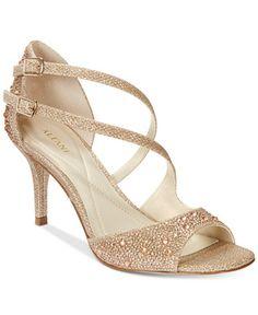 Alfani Women's Cremena Asymmetrical Evening Sandals, Only at Macy's