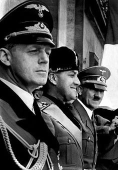"(FILES) This file picture taken in 1939 shows German Nazi Chancellor and dictator Adolf Hitler (3rd L), Italian Foreign Minister Galeazzo Ciano (2nd L) and German Nazi Foreign Minister Joachim von Ribbentrop (L) greeting the crowd from a balcony after the signature of the ""Pact of Steel"" in Berlin. A birthday letter from the Nazi foreign minister von Ribbentrop to a legendary spy credited with helping turn the tide of Germany's advance on Moscow has been found in Tokyo, a book dealer said on…"