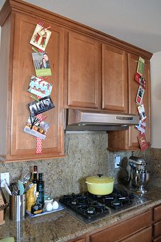 A new way to hang Christmas cards.