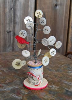 sweet button tree by Leslie Brier