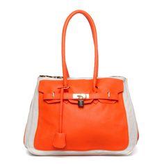 Fun orange handbag.