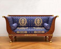 An Empire suite of furniture, comprising a pair of fauteuils, a pair of bergères and a canapé by Jacob-Desmalter et Cie 1805