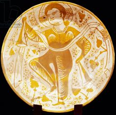 Dishes with Christian inspirational subject, Erostat pottery, Islamic Civilisation, 11th century