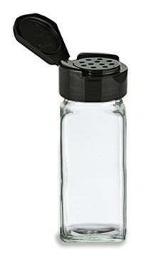 3 oz Clear Glass Square Spice Jars Stainless Steel Cap Things