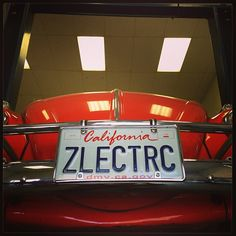 ZLECTRC — This one's ours. #electric #electriccar #vw #volkswagen #bug #beetle #vanityplate #personalizedplate #california