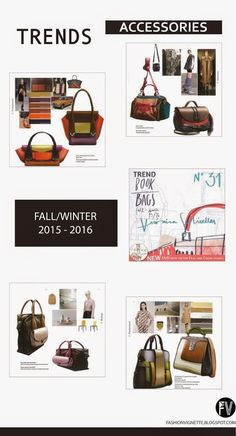 TRENDS // TREND BOOK - BAGS   SHOES . F/W 2015-16