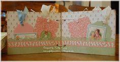 Graphic 45 Baby Gift Ensemble - Mini Album inside view shows pockets