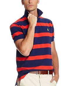 Polo Ralph Lauren Poloshirt Rl Menswear Knits Mesh [blau/rot]