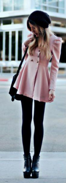 Short Pink Coat Lovely!! Adoración por la chaqueta