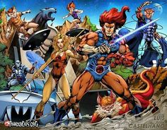 Jose Luis Illustration of Thundercats Best 80s Cartoons, Old School Cartoons, Classic Cartoons, Cartoon Video Games, Cartoon Tv, Cartoon Characters, Thundercats 1985, Animated Icons, Marvel
