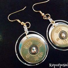 My newest design! 12 gauge brass with golden shadow Swarovski crystals!