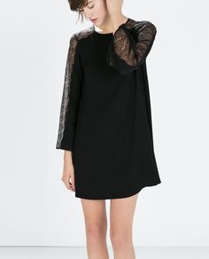 ZARA - WOMAN - DRESS WITH LACE SLEEVES