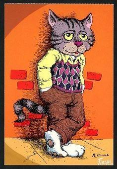 Fritz the Cat - Robert Crumb. Robert Crumb, Illustrations, Illustration Art, Fritz The Cat, Linear Art, Alternative Comics, Graphisches Design, Bd Comics, Chef D Oeuvre