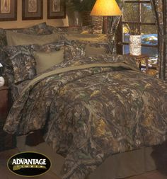 Queen Timber Camo comforter by Kimlor Mills. You will love and appreciate this Camo Timber bedding designed by Realtree. Camouflage Bedroom, Camo Rooms, Camo Bedding, Rustic Bedding, Queen Comforter Sets, Bedding Sets, My New Room, My Room, Bedroom Pictures