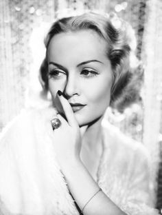 Carole Lombard was married to Clark Gable until her untimely death in a 1942 plane crash.  She was said to be the love of his life and that he never got over her death.