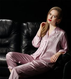 NWT-Pure-Silk-Ladies-Pajamas-Set-Womens-US-Size-2-6-10-12