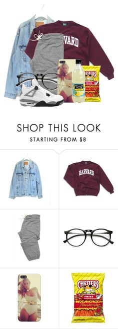 """havard"" by daejeh ❤ liked on Polyvore featuring Levi's, Monrow and ZeroUV"