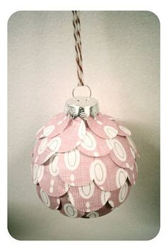 paper covered ornament by oh, come on!