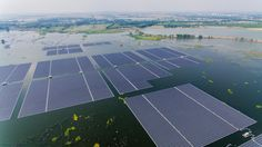 Floating over a flooded former coal mine in China's eastern province of Anhui, the huge solar farm began operations and was connected to the grid on Wednesday. Solar Power Panels, Coal Mining, Urban Planning, World, China, Urban Design, Tech, Solar Energy Panels, The World