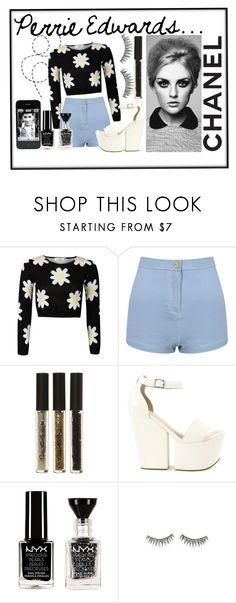 """Perrie Edwards"" by hoeran ❤ liked on Polyvore featuring Miss Selfridge, Nly Shoes, NYX, shu uemura and La Femme"