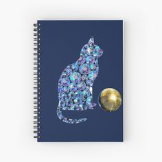 'Disco cat and disco ball' Spiral Notebook by StefaniaAlina Disco Ball, Notebooks, Spiral, My Arts, Art Prints, Printed, Cats, Paper, Awesome